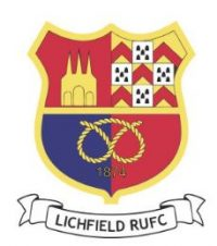 Lichfield Rugby Club Rugger Rats